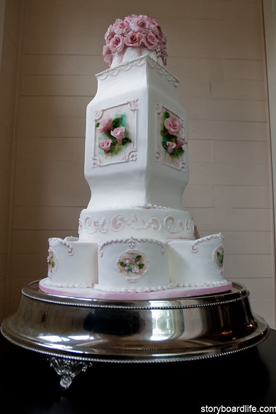 David Tutera Tybee Island Wedding Chapel Cake by sugar plum visions