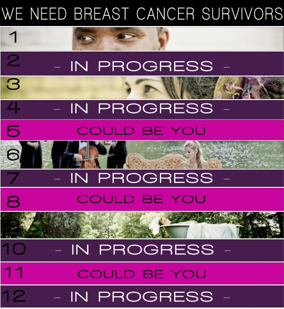 breast cancer photo shoot models