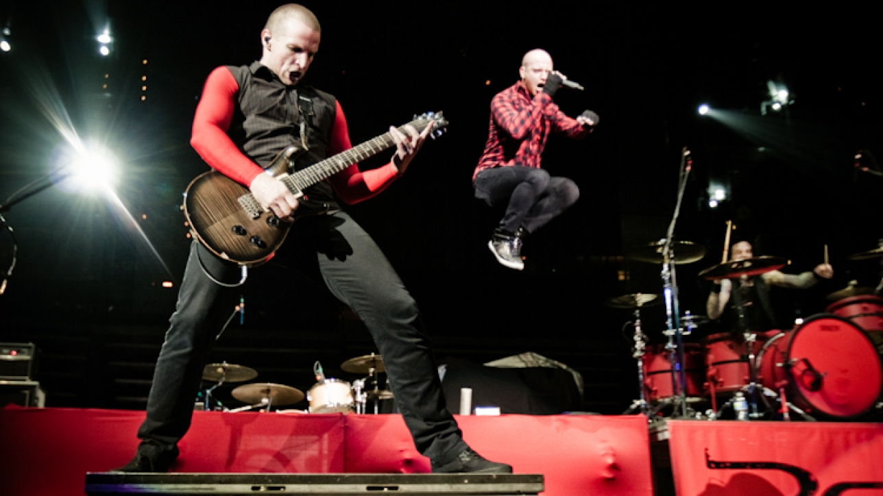 Red is an American rock band from Nashville, Tennessee, formed in 2004. The band's lineup consists of singer Michael Barnes, guitarist Anthony Armstrong, bassist Randy Armstrong and drummer Joe Rickard