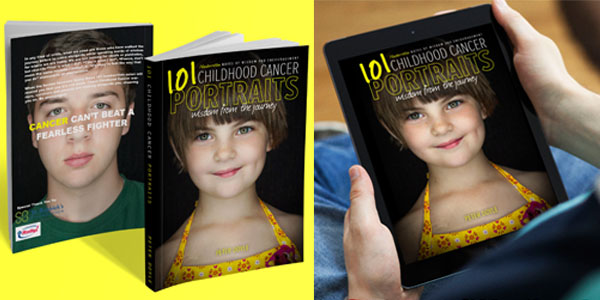 childhood cancer portraits book cover