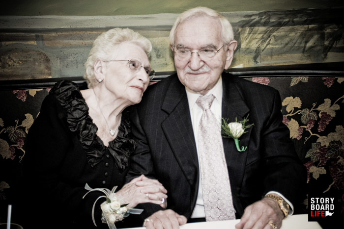 Wedding photography of older couple